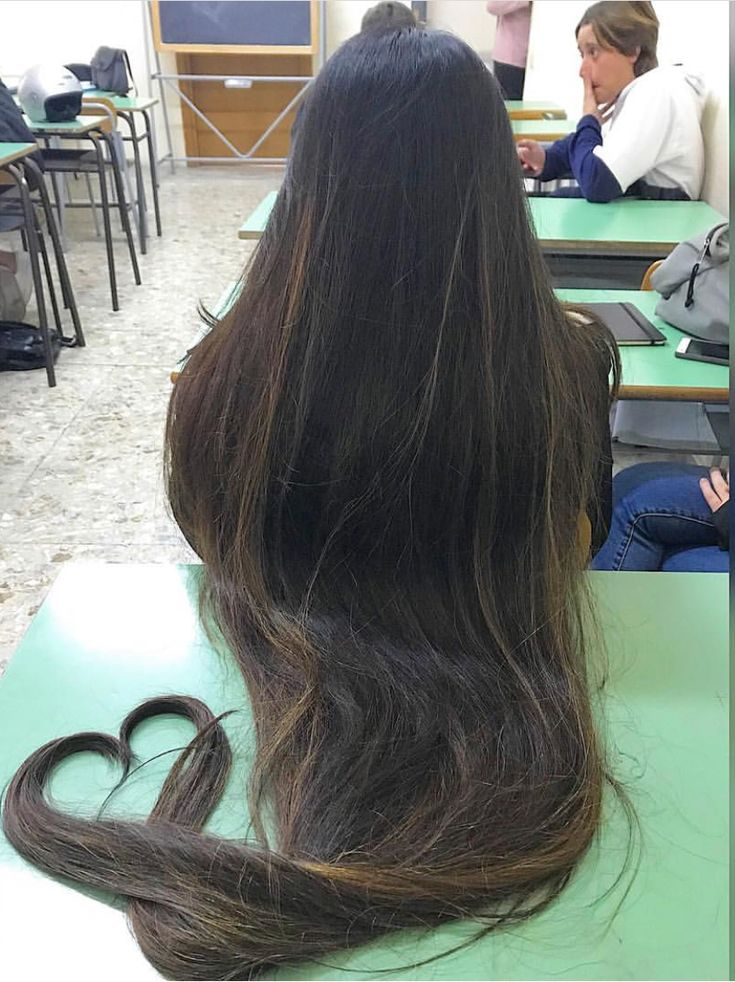 Rapunzel hair with a heart at the end
