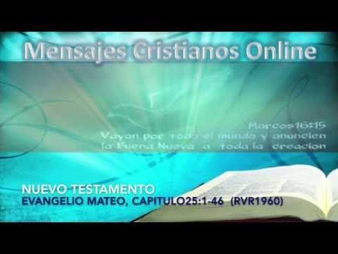 29) NUEVO TESTAMENTO -  MATEO25:1-46 - LA BIBLIA HABLADA  - ESTUDIOS BÍB...