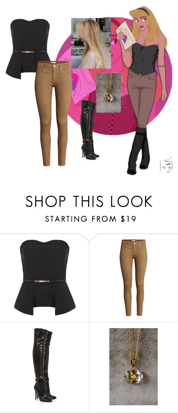 """""""Unbenannt #207"""" by woodencakes ❤ liked on Polyvore featuring Disney, Jane Norman, H&M, Jimmy Choo and MARA"""