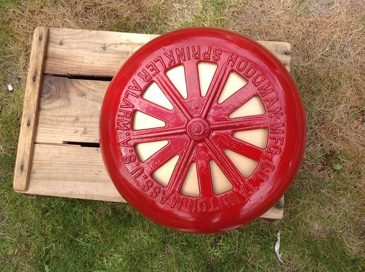 Cast iron industrial sprinkler alarm made by Hodgeman, Taunton, MA