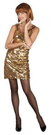 Glitzerkleid Discokleid Paillettenkleid Dazzle gold