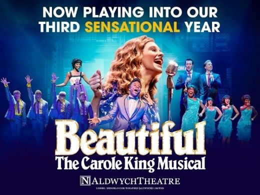 Beautiful The Carole King Musical is based on the story of famous American singer Carole King. You can buy cheap tickets direct from Box Office Theatre.