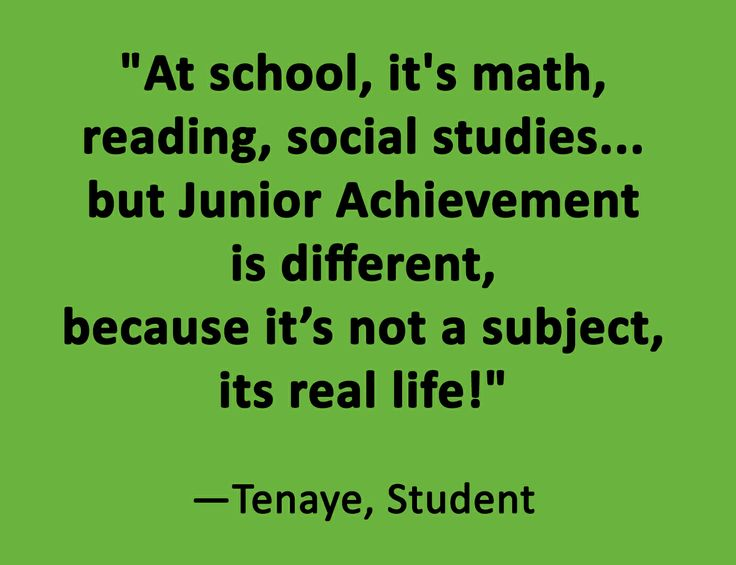 Great quote about our member, Junior Achievement!  Did you know can give to Junior Achievement USA and/or Junior Achievement of New York through your workplace giving program?