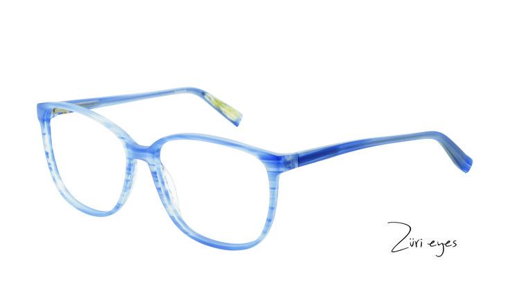 Züri eyes Highlight - die seidenmatte Oberfläche im dezenten blau