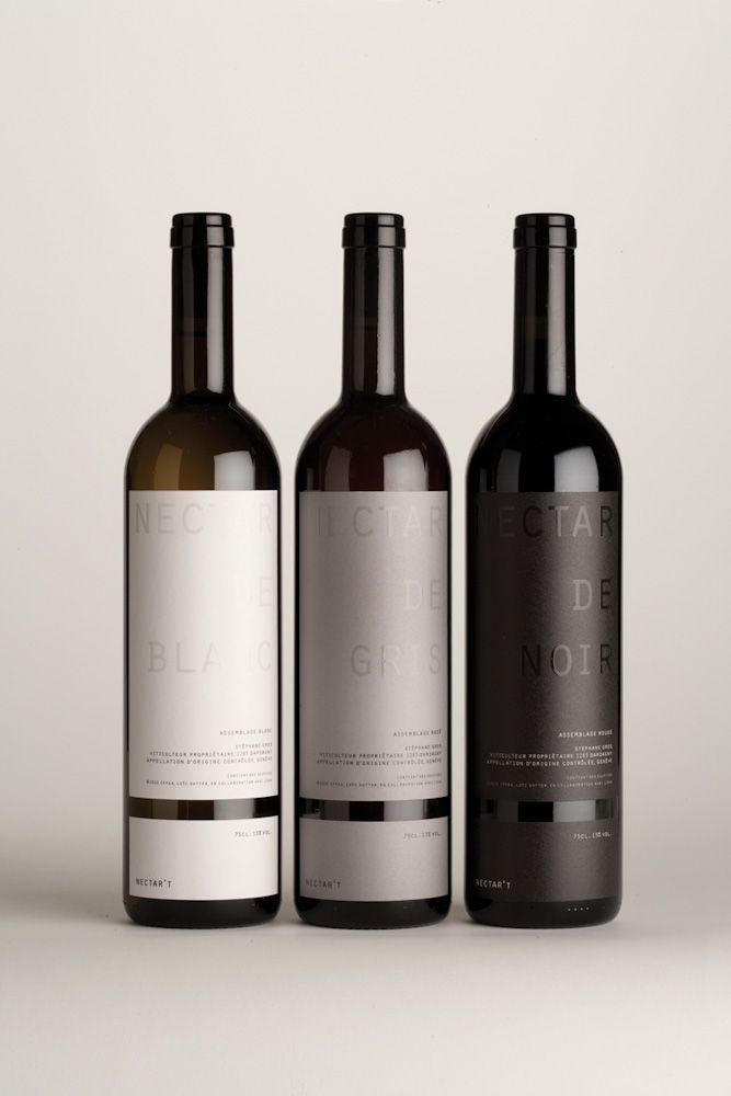 Wine label gre black