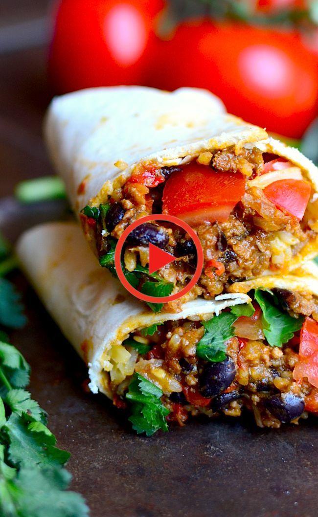 Burrito De Pollo Mexican Food Recipes Recipes Food