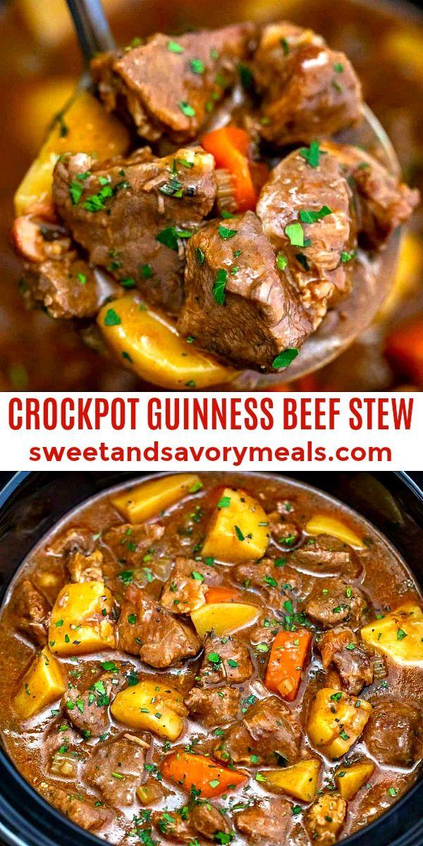 Best Slow Cooker Guinness Beef Stew Recipe In 2020 Guinness Beef Stew Slow Cooker Slow Cooker Beef Stew Slow Cooker Stew Recipes