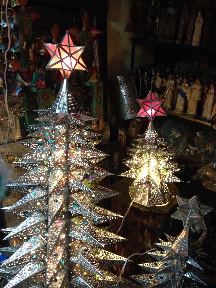 Artesan a mexicana para navidad rboles de navidad con luces incluidas en el mercado de - Luces arbol de navidad ...
