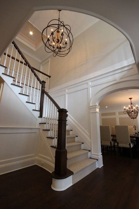 Creative Foyer Chandelier Ideas for Your Living Room  23 pics Interiordesignshome.com Gorgeous foyer chandelier by Toll Brothers