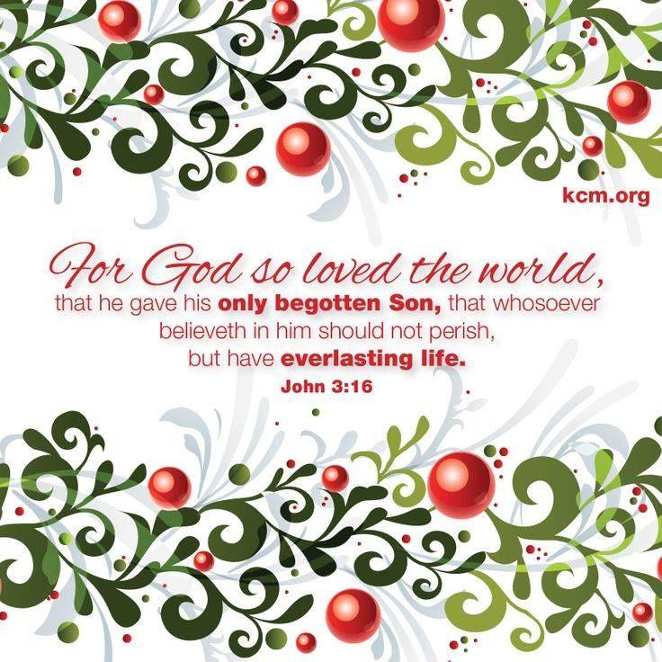 This is Christmas. <3 John 3:16