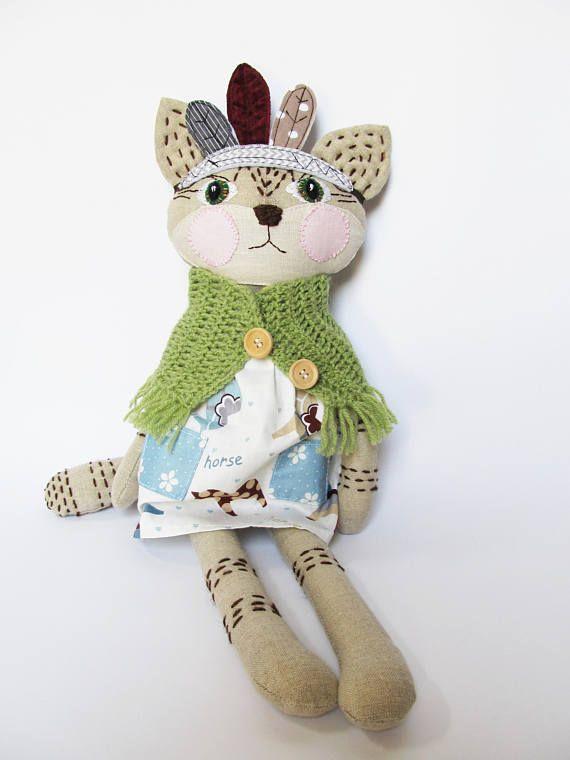 Cat stuffed animal Toddler toy Cat doll Dress up doll Cat #catdoll #stuffedanimal #ragdoll