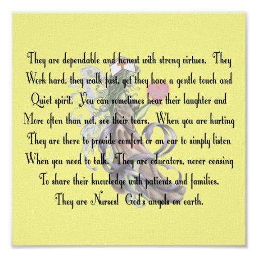 """Nurse Poem Canvas Art Print """"They Are Nurses"""""""