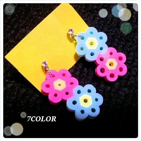 Earrings perler beads by Haruna