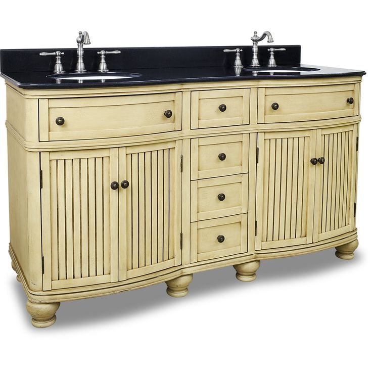 diy distressed bathroom vanity%0A Hardware Resources    Compton Buttercream    Double Vanity With  Preassembled Top And Bowl By Bath Elements Br This    Wide Mdf Double Vani