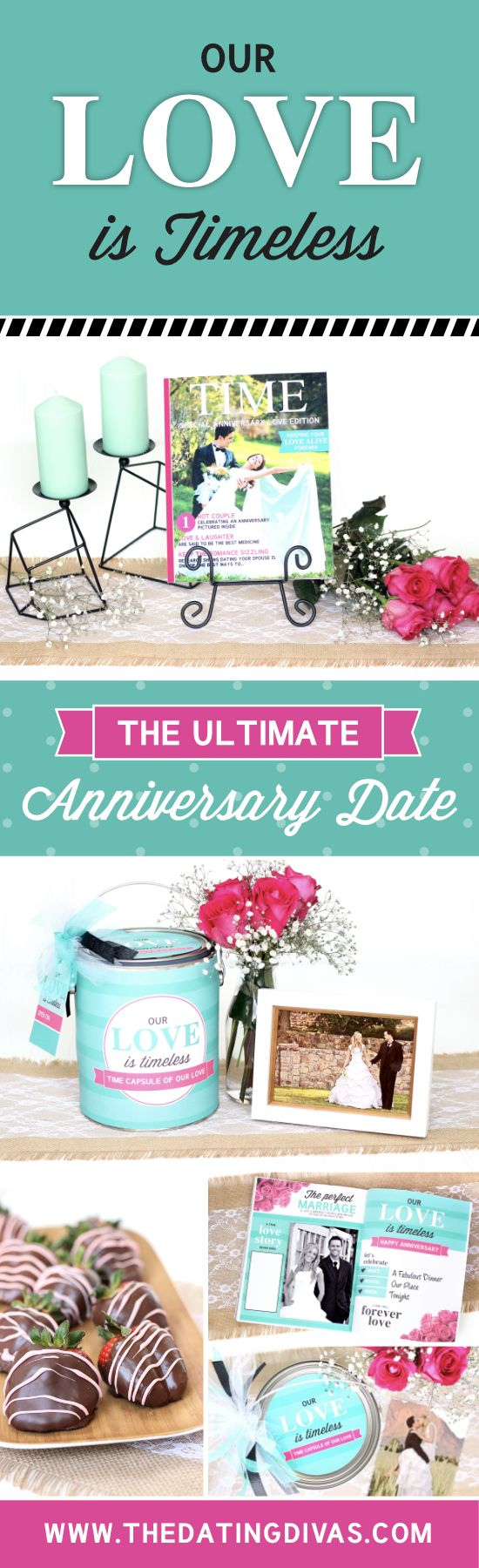 687 best anniversary ideas images on pinterest dating divas a box our love is timeless themed romantic anniversary date negle Image collections