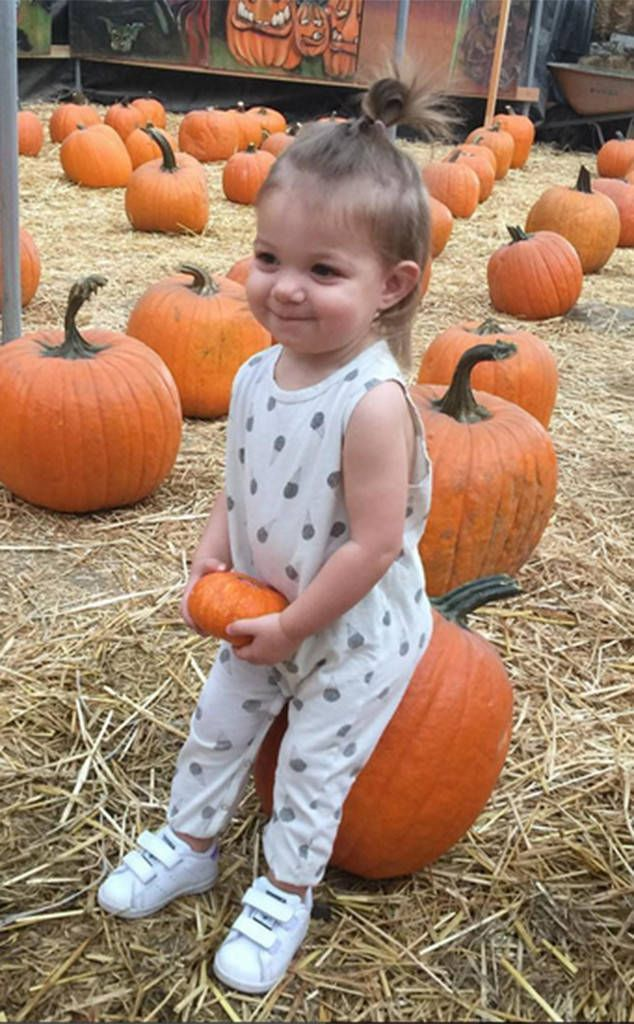 "Ryan Rosenberg from Cutest Celeb Kids on Instagram  ""Think we got the cutest pumpkin in the whole darn patch"" Hailey Duff's tiny tot is all smiles at the pumpkin patch."