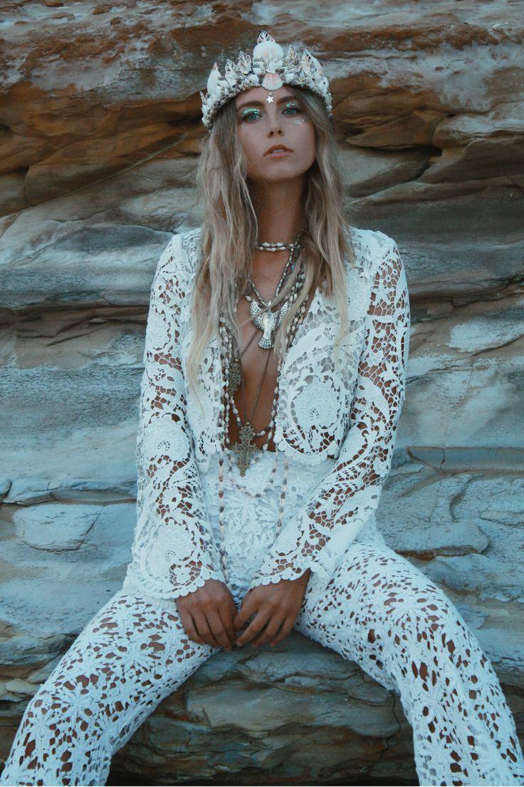 The Dreamer Mermaid Crown by Wild & Free Jewelry. Model: Natalie Castillo