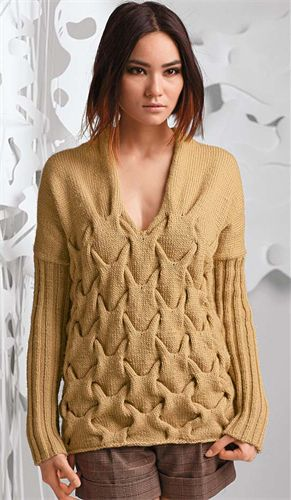 Bergere de France Origin Sweater Knitting Pattern. I've always loved this pattern.