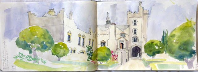 MHBD's Blog: Drimnagh Castle and Dublin Sketchers Christmas party