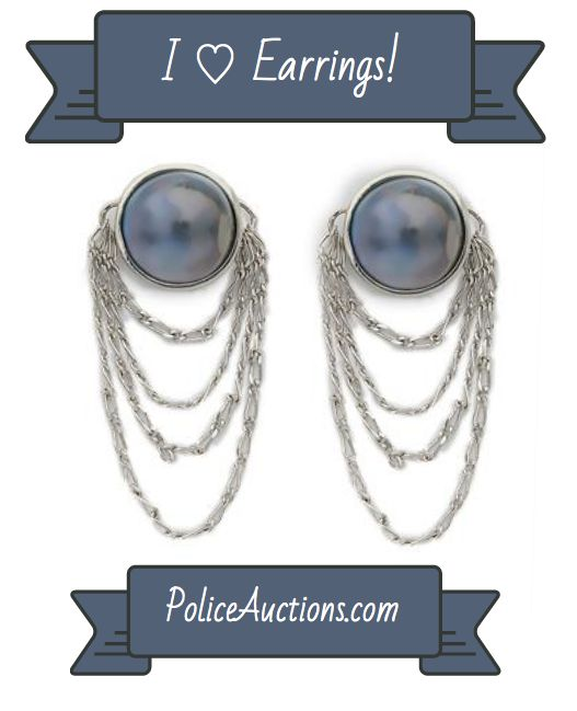 http://bit.ly/1AKTB1t:Gorgeous Womens Rhodium Over Solid Sterling Silver Full 2.0 CTW Pearl Designer Earrings