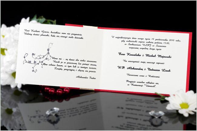 Zaproszenia ślubne BOK
