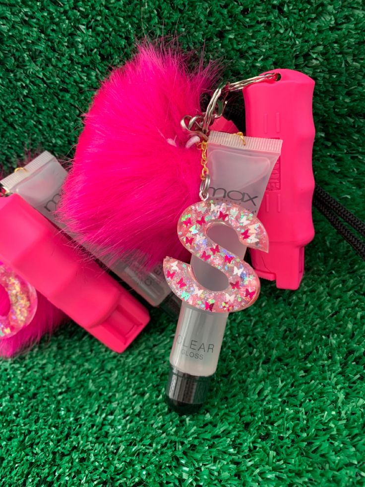 Pepper spray custom keychain Keychains set self defense