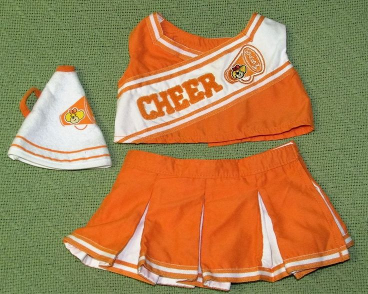 Build A Bear Clothes Set University of Tennessee UT Vols Cheerleader Outfit 3 Pc #BuildaBear #any