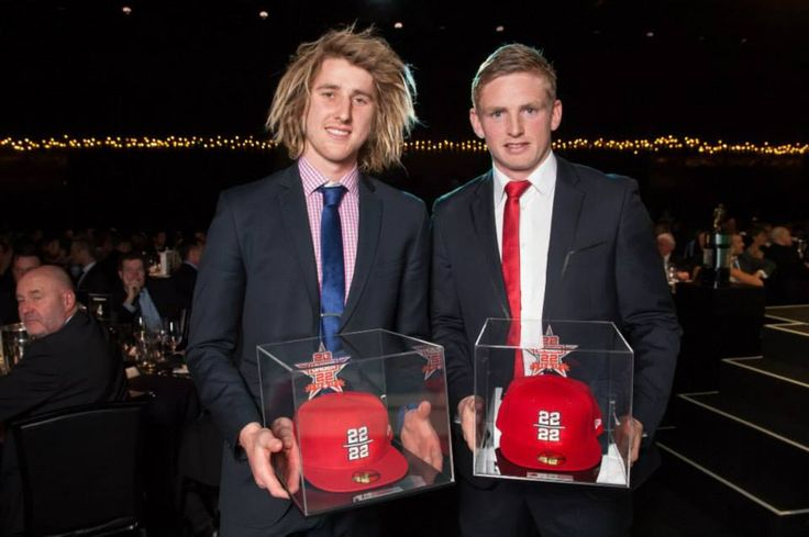 Dyson Heppell and Jack Ziebell with their 22under22 trophies!