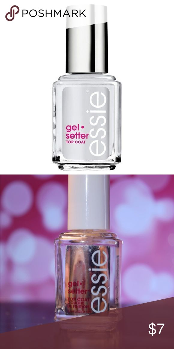 NEW Essie Gel Setter Top Coat Nail Polish This Essie nail polish is a top coat to give your manicure a gel finish. It is just like new without the packaging. Feel free to bundle this with the other two Essie polishes I am selling and get a 25% DISCOUNT! I'm always will to negotiate prices. Comment or email with any questions! erinwilson254@gmail.com Makeup