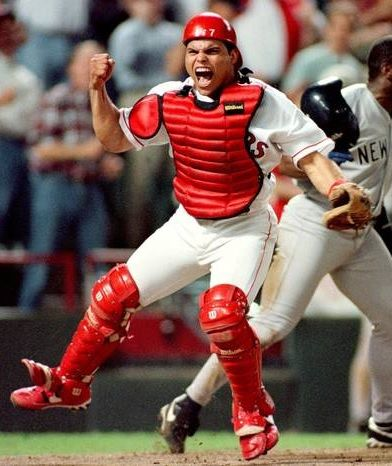 Ivan (pudge) Rodriguez - Texas Rangers. My all time fav player! Loved him since I was like 6!