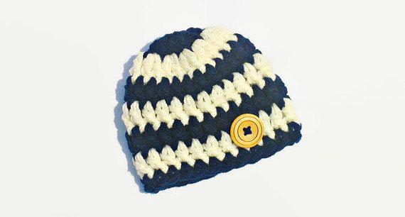 Baby Boy Hat Crochet Newborn Boy Hat Newborn by DeesCozyCreations