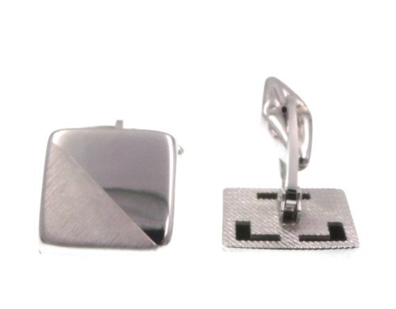 Polsini gemelli quadrato argento 925 per camicia uomo cerimonia - cufflinks