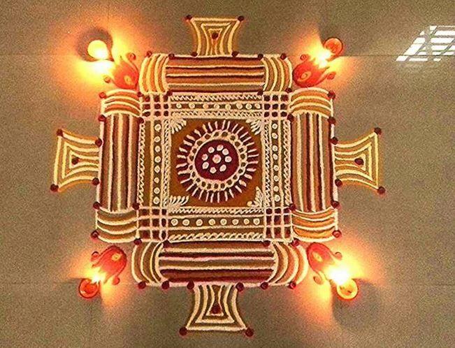 Simple Kolam Designs for Diwali