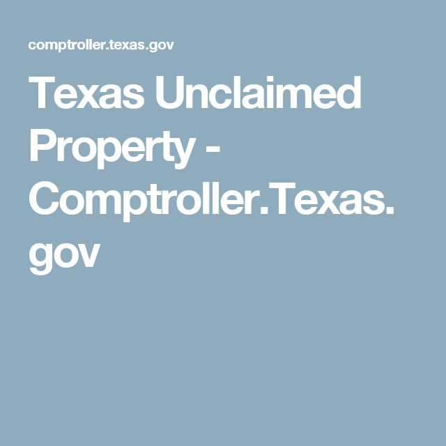 Search Unclaimed Property Texas Comptroller