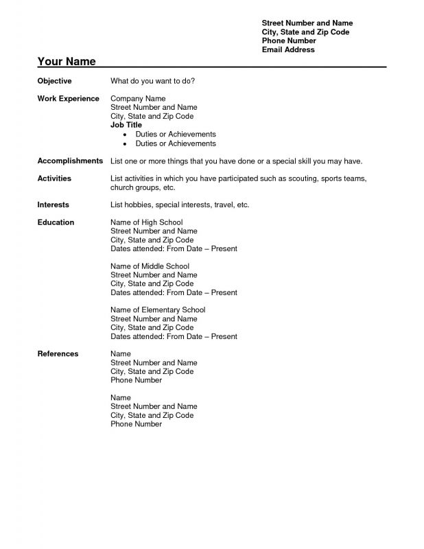 Free Resume Builder Template Download | Resume Examples And Free
