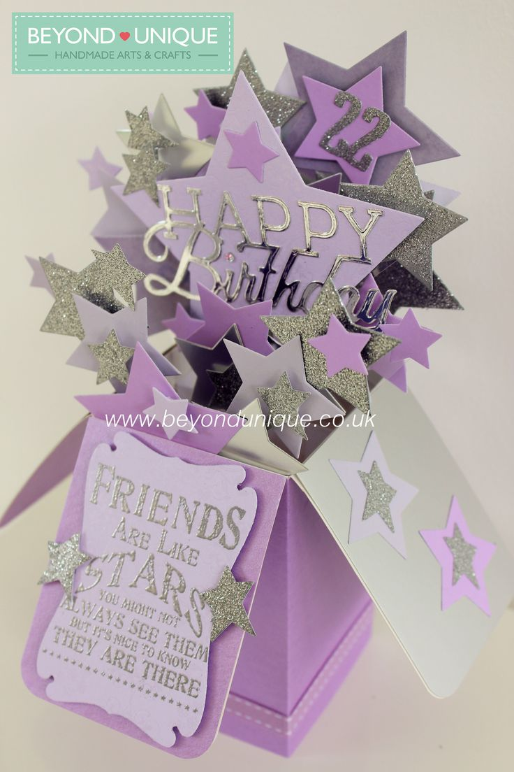 Handmade Pop Up Box Birthday Card Stars Design  https://www.facebook.com/BeyondUniqueUK