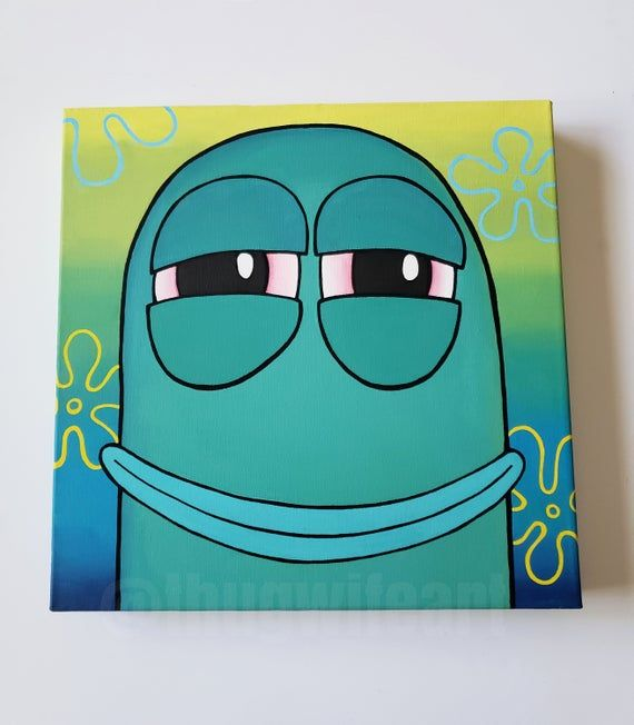 Cartoon Canvas Painting Meme Painting Ideas See More Of Diy Canvas Painting For Kids On Facebook