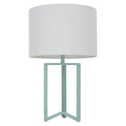 Room Essentials Wishbone Metal Table Lamp   Aqua By Target