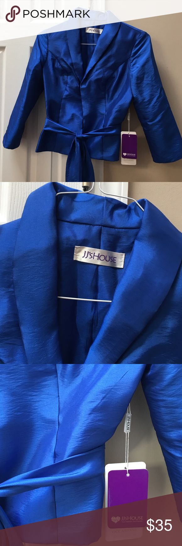 Gorgeous satin royal blue blazer This royal blue blazer is amazing!  I have this brand new because it was too small for and I had to order a size up. It's perfect over a dress for a fancy party.  Got tons of compliments! Other