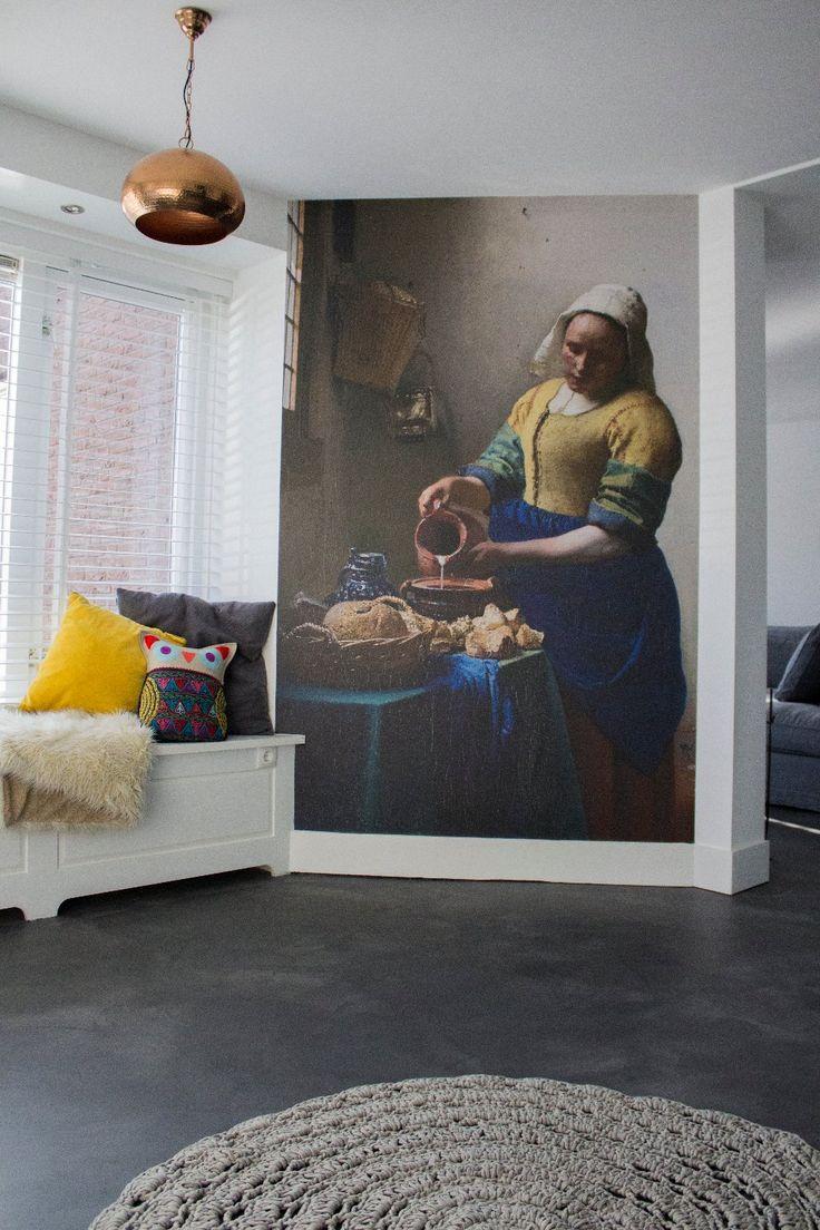 Cementgebonden gietvloer in ruime woning - Gietvloeren.nl