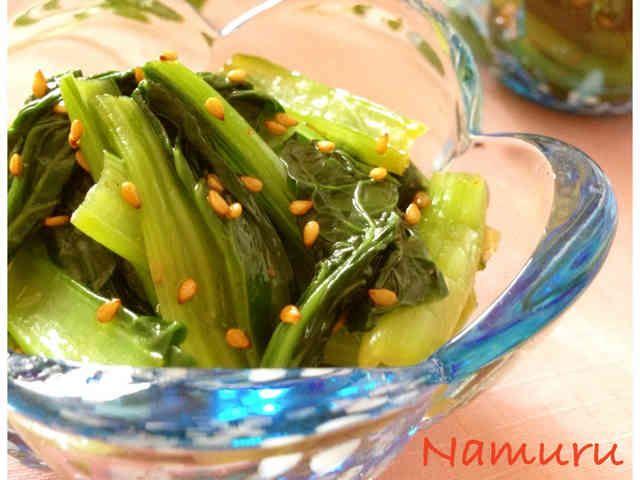 ✿副菜 作り置き小松菜のナムル✿の画像