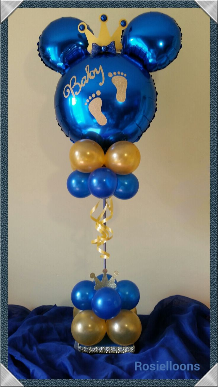 Royal Baby Shower Balloon Topiary. Your Little One Will Be The King Of The  Party! | Baby Shower Balloon Decor | Pinterest | Royal Baby Showers, ...