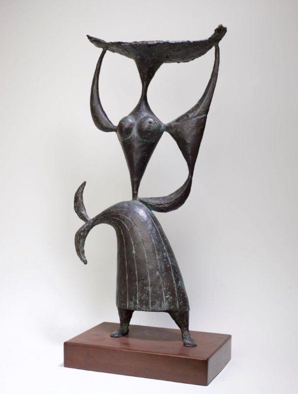 Sem Titulo 169)22 Varina 1957 Bronze 51,5cm x 26cm x 12cm #JorgeVieira #sculpture #SaoMamede #art #drawings #visit #lisbon #gallery