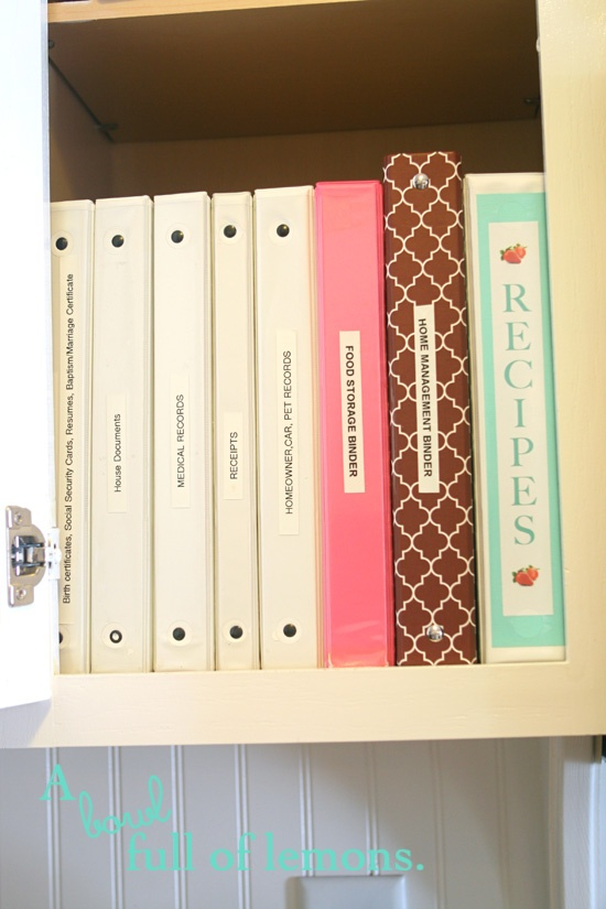 Either you are a file person or a binder person. This is for binder people. A binder for everything.