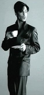 Prince drinking coffee. Love Coffee - Makes Me Happy