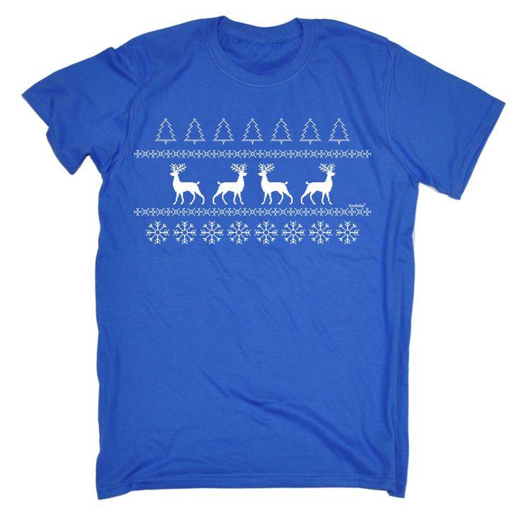 123t USA Men's Reindeer Christmas Jumper Funny T-Shirt