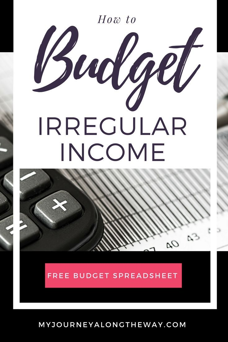 How To Budget With Irregular Income Money Sense Pinterest