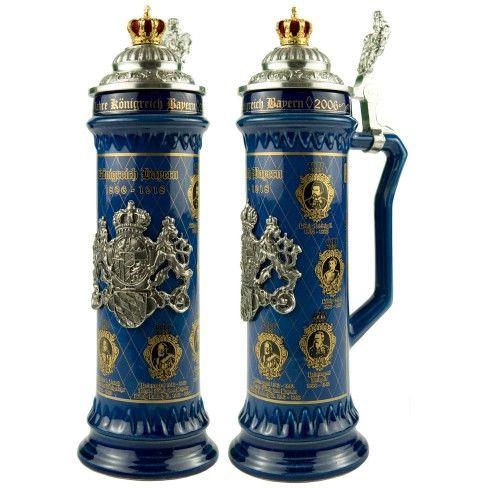 "0.75 Liter Bavarian Kings Ceramic Beer Stein $179.95 www.LiquorList.com ""The Marketplace for Adults with Taste"" @LiquorListcom"