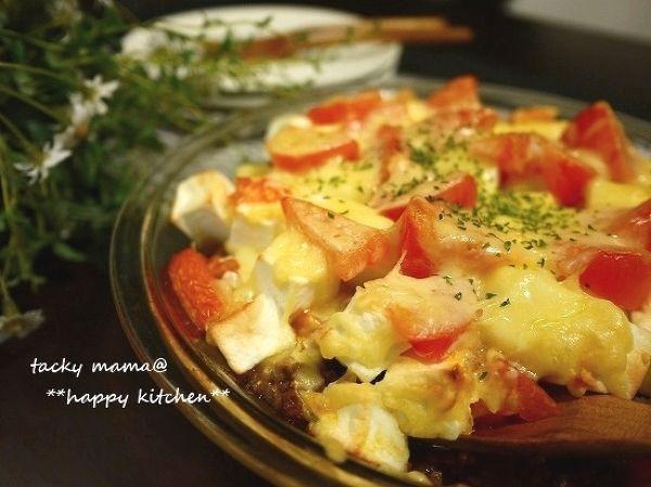 はんぺん入りでふっくら♪トマトと挽き肉のチーズ焼き by たっきーママ ...