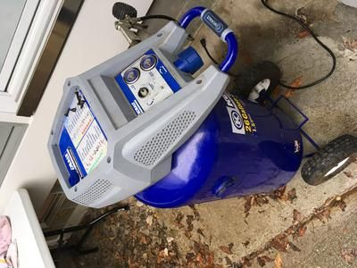 kobalt 26 gallon compressor dear bill my air compressor worked just fine until i decided to lay it on its side which i didnu0027t know you do then